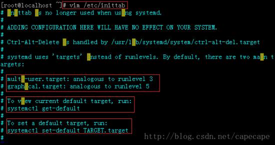 CentOS7 设置运行级别